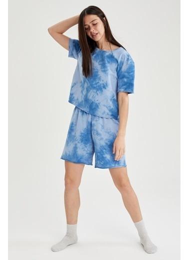 DeFacto Pijama Üst Mavi